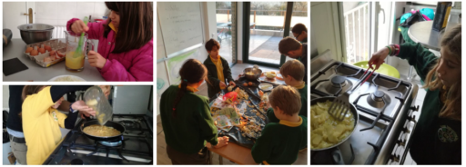 Oak class preparing the Tortilla